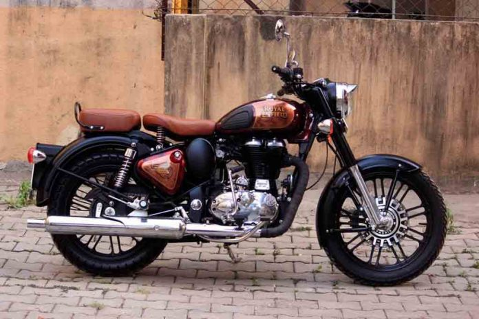 this modified royal enfield classic 500 looks eye candy