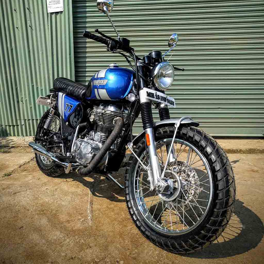 royal enfield classic maverick scrambler looks bold and aggressive. Black Bedroom Furniture Sets. Home Design Ideas