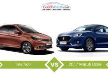 Tata Tigor vs 2017 Maruti Suzuki Dzire – Specs Comparison