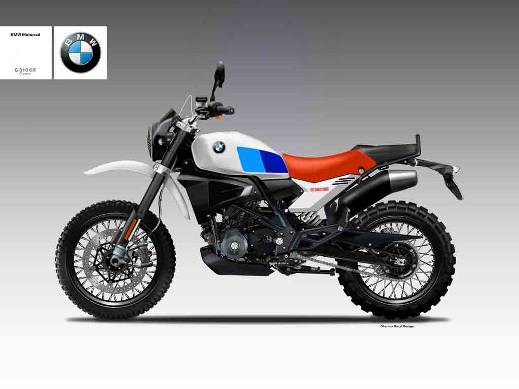 bmw g310 gs classic concept imagines the bike as. Black Bedroom Furniture Sets. Home Design Ideas