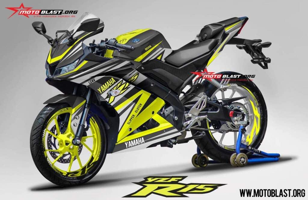 India-Bound Yamaha R15 V3 Rendered with Racing Decals