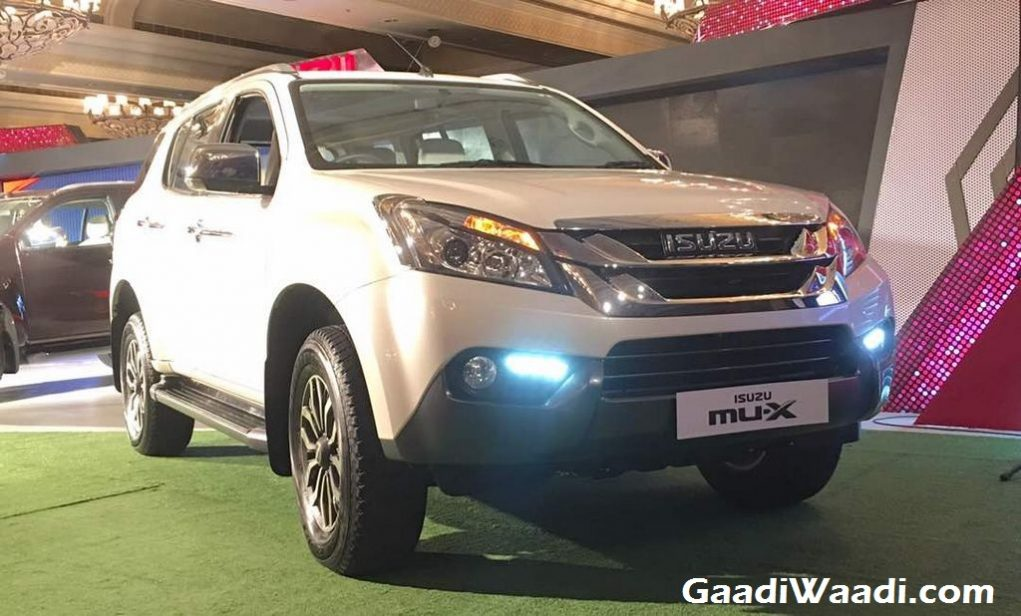 isuzu mu x suv launched in india price engine specs features review. Black Bedroom Furniture Sets. Home Design Ideas