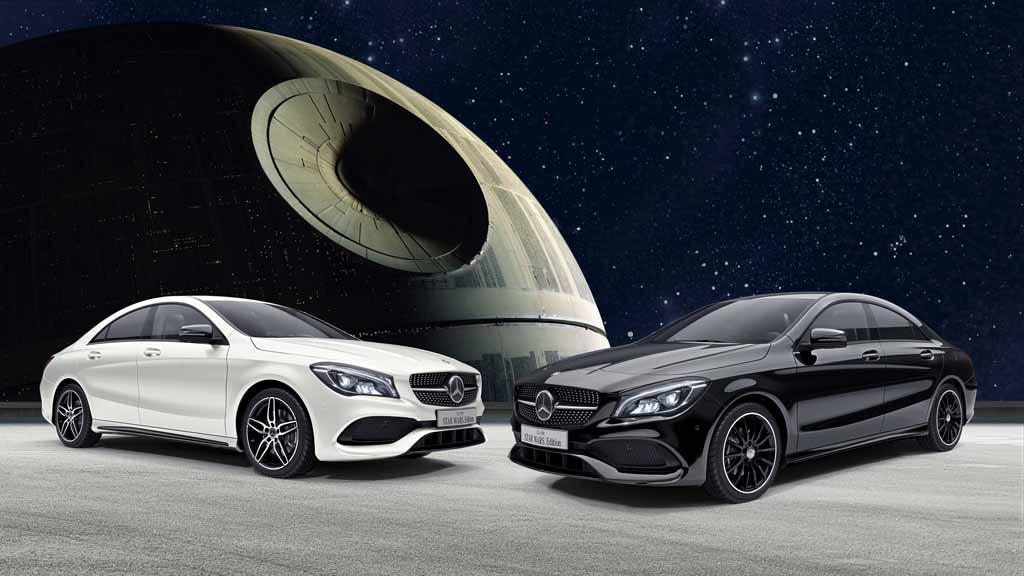 mercedes benz cla 180 star wars edition launched in japan. Black Bedroom Furniture Sets. Home Design Ideas
