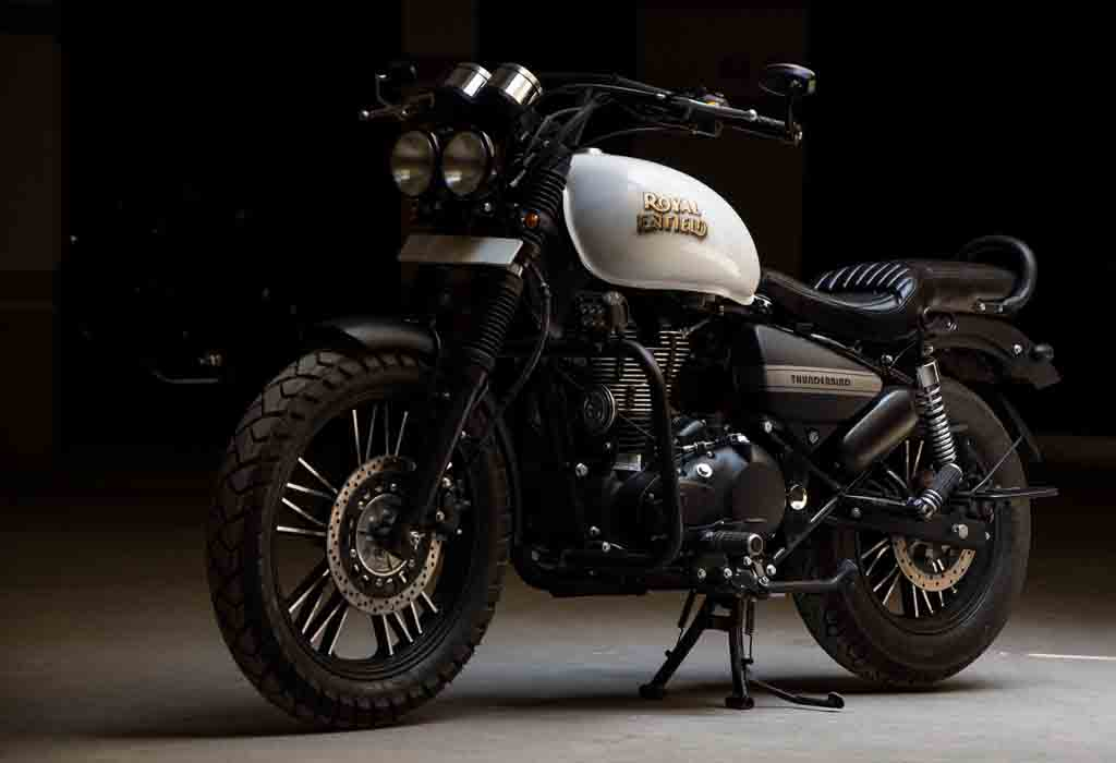 royal enfield thunderbird 500 dons an aggressive look with heavy