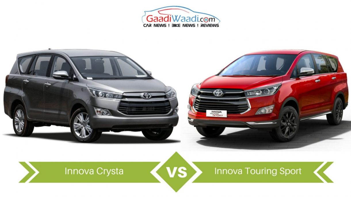 toyota innova touring sport appears distinctive  pared to the