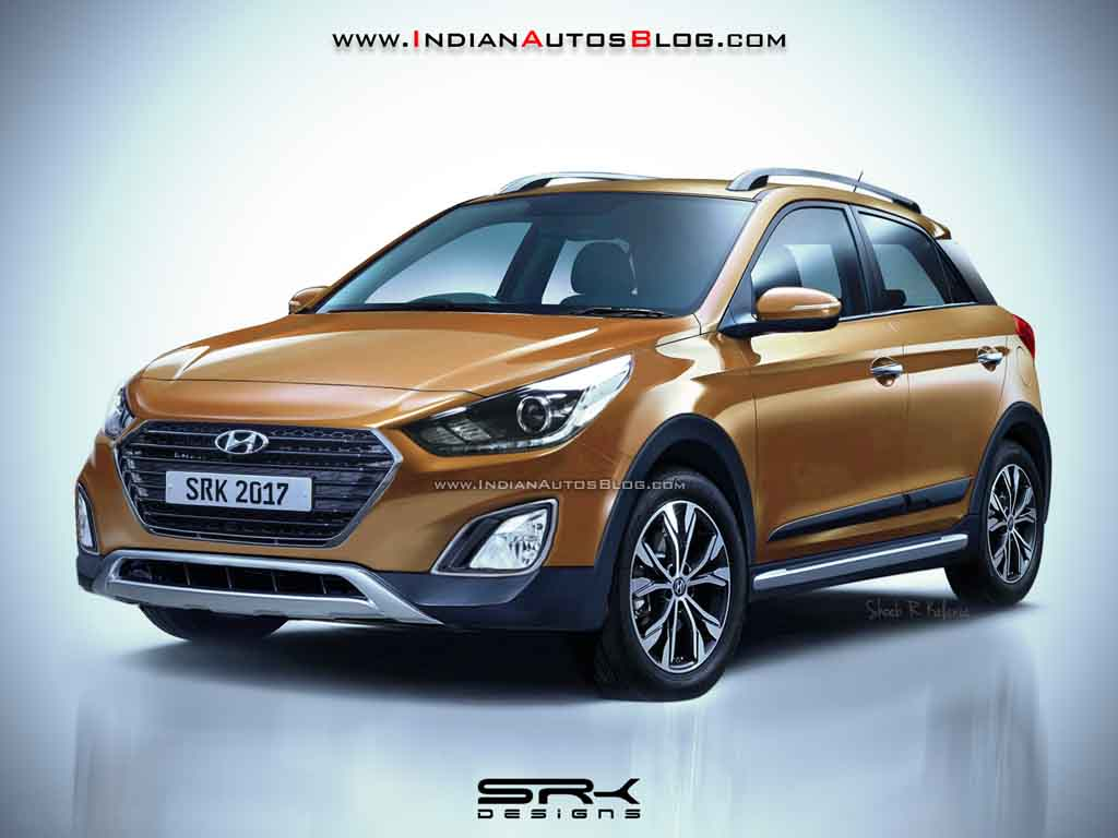 2018 hyundai i20 active looks sportier and aggressive in rendering. Black Bedroom Furniture Sets. Home Design Ideas