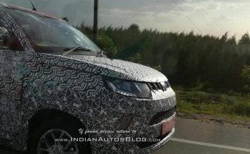 2018 Mahindra KUV100 Facelift Spied in India for the First Time