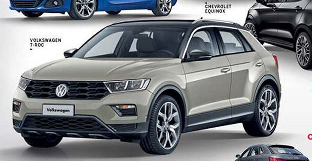 production volkswagen t roc suv 39 s image leaked online. Black Bedroom Furniture Sets. Home Design Ideas
