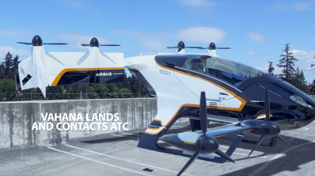 Airbus Shows Off How Vahana Flying Taxi Will Work