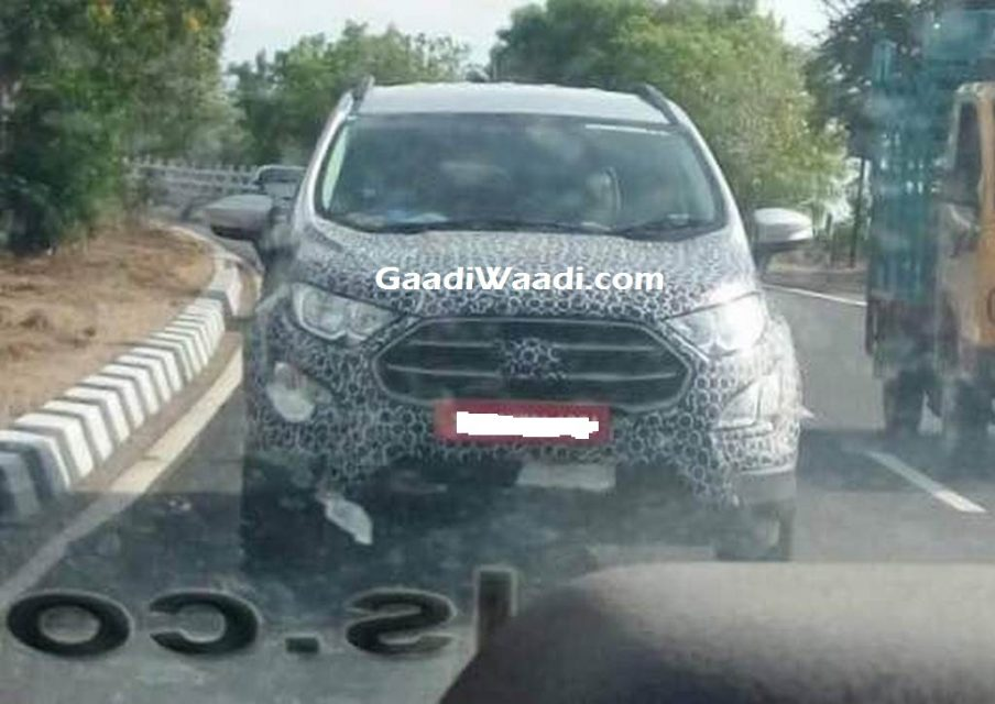 Ford EcoSport Facelift Spied India Launch