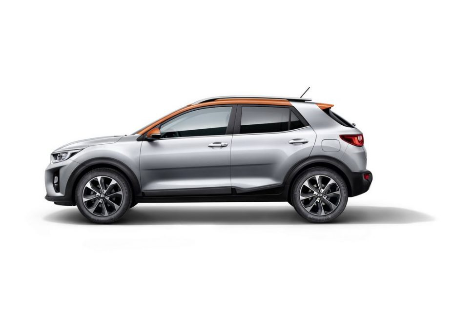 India-Bound Kia Stonic Crossover Side