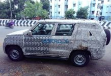 Mahindra TUV500 Spotted Again in India