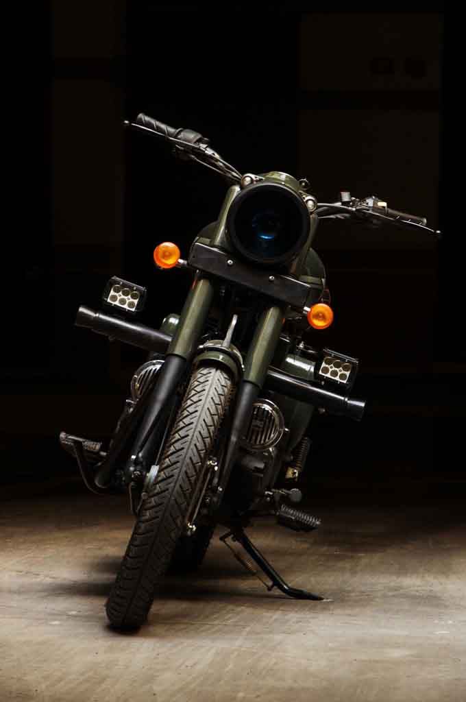 Customised Royal Enfield Bullet Looks Like A Retro Military Machine
