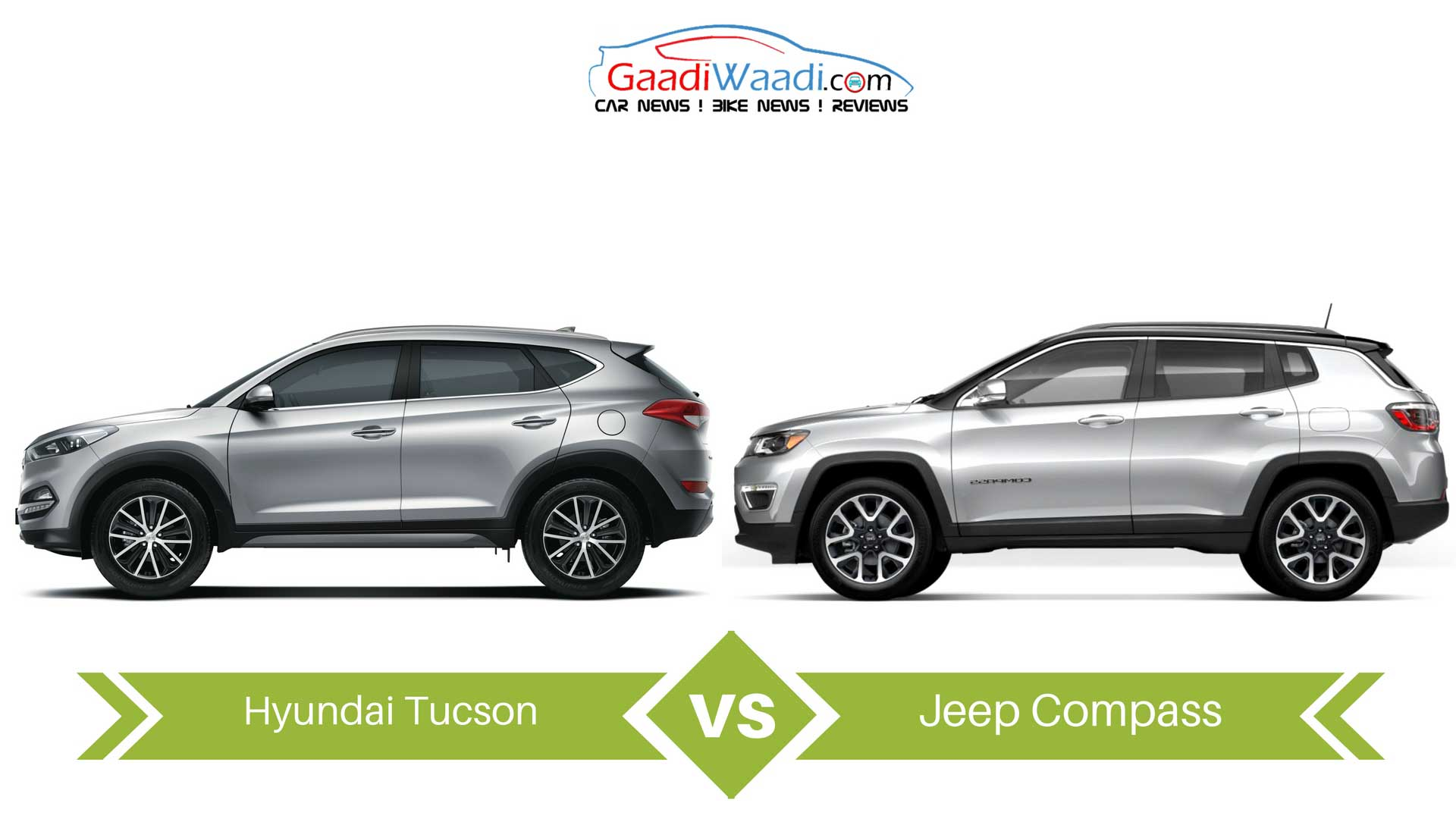 Tucson Dimensions 2017 >> Jeep Compass Vs Hyundai Tucson Specs Comparison