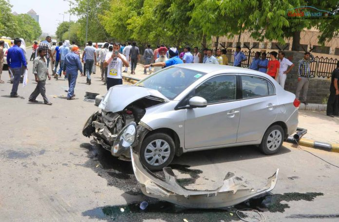 new fortuner accident india