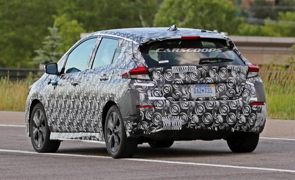2018 Nissan Leaf Spied Testing 3