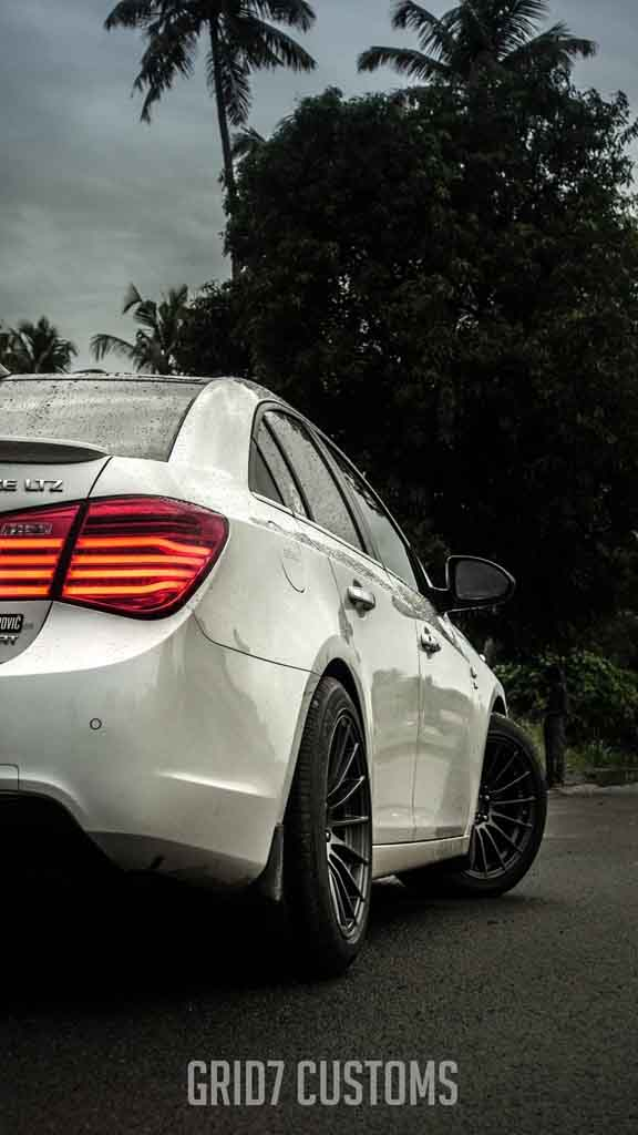 Customised Chevy Cruze Dons Sporty And Muscular Stance