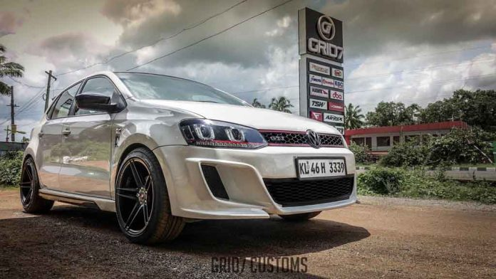 this regular volkswagen polo customised into gti version. Black Bedroom Furniture Sets. Home Design Ideas