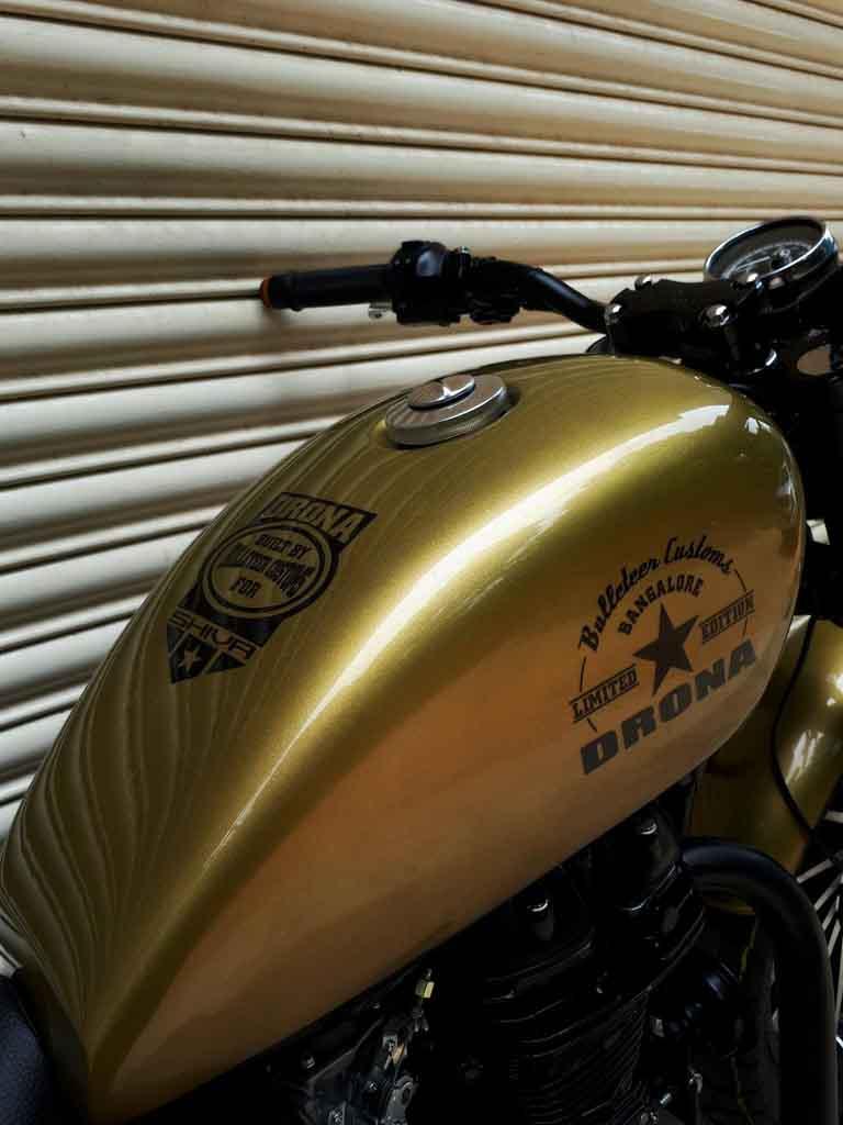 Modified Royal Enfield Classic Dons A Harley Davidson Iron ...