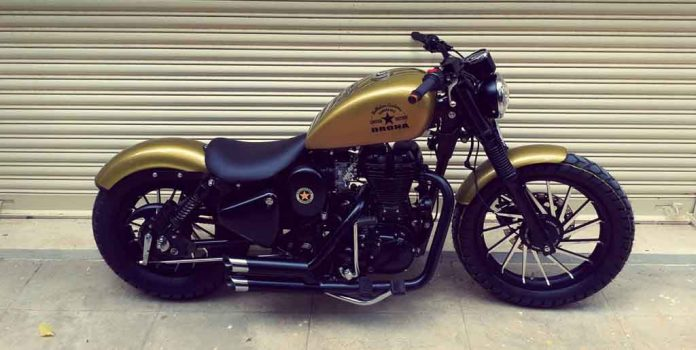 Modified Royal Enfield Classic Dons A Harley Davidson Iron