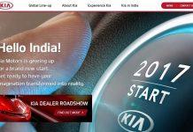 Kia India Website