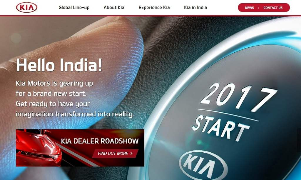 Kia India Website
