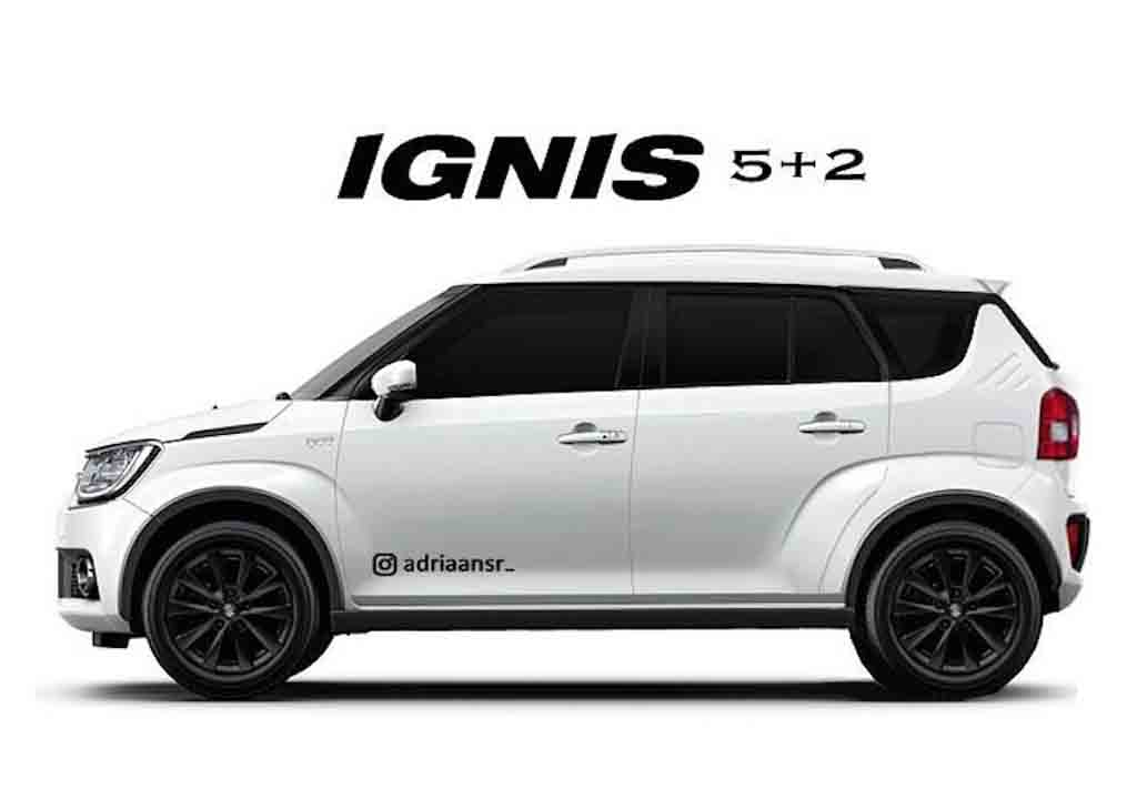 Maruti Suzuki Ignis Long Wheelbase Rendered in Sporty Styling