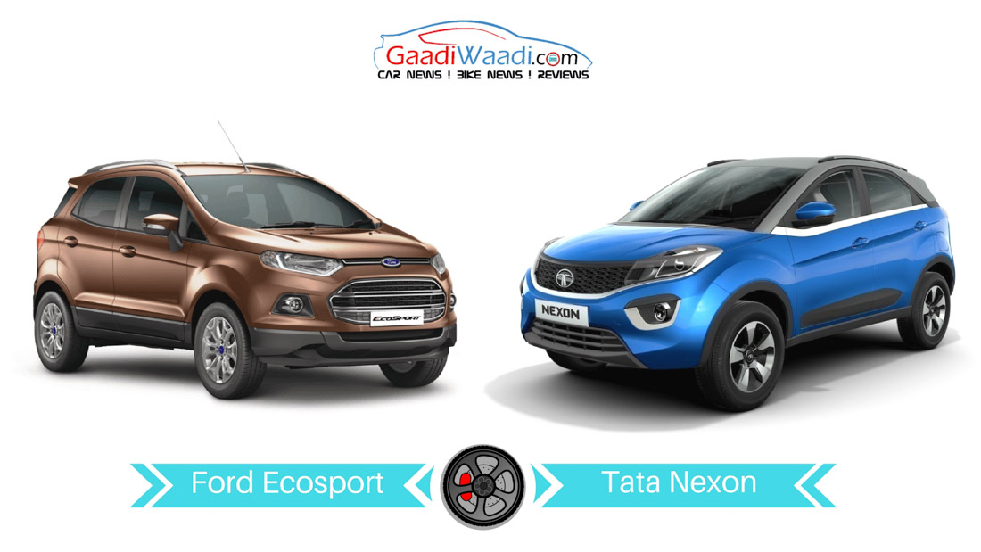 New Ford Ecosport Vs Tata Nexon Specs Comparison