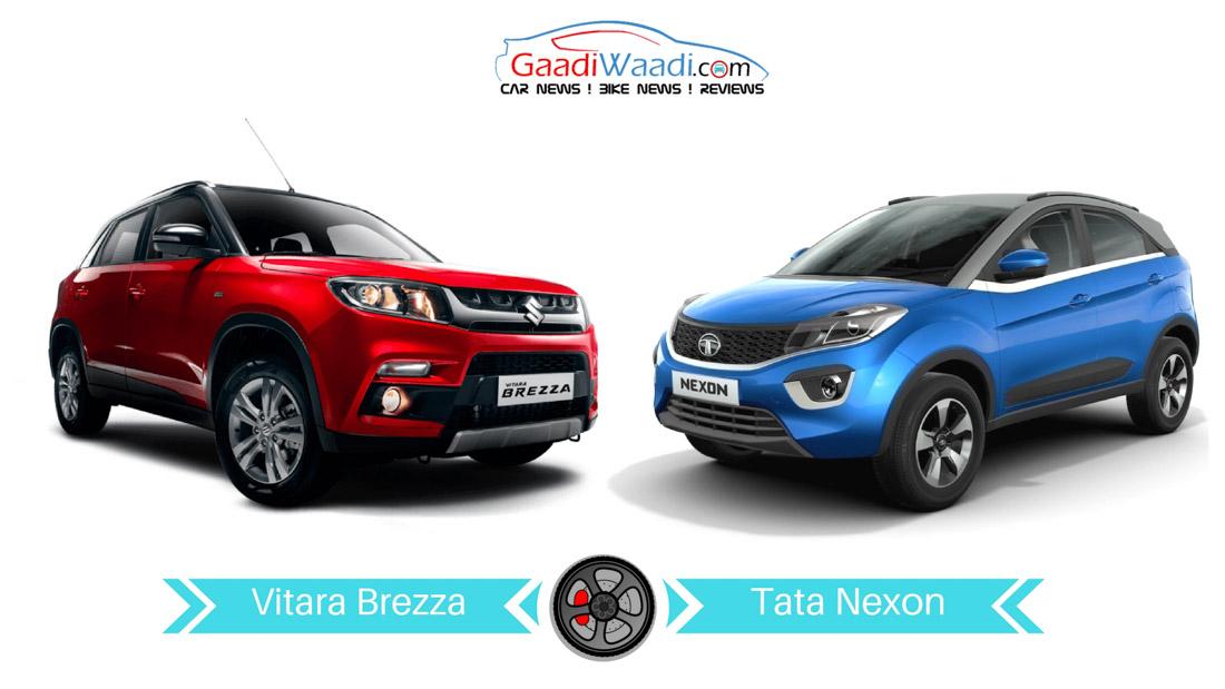 Tata Nexon Vs Maruti Suzuki Vitara Brezza Specs Comparison