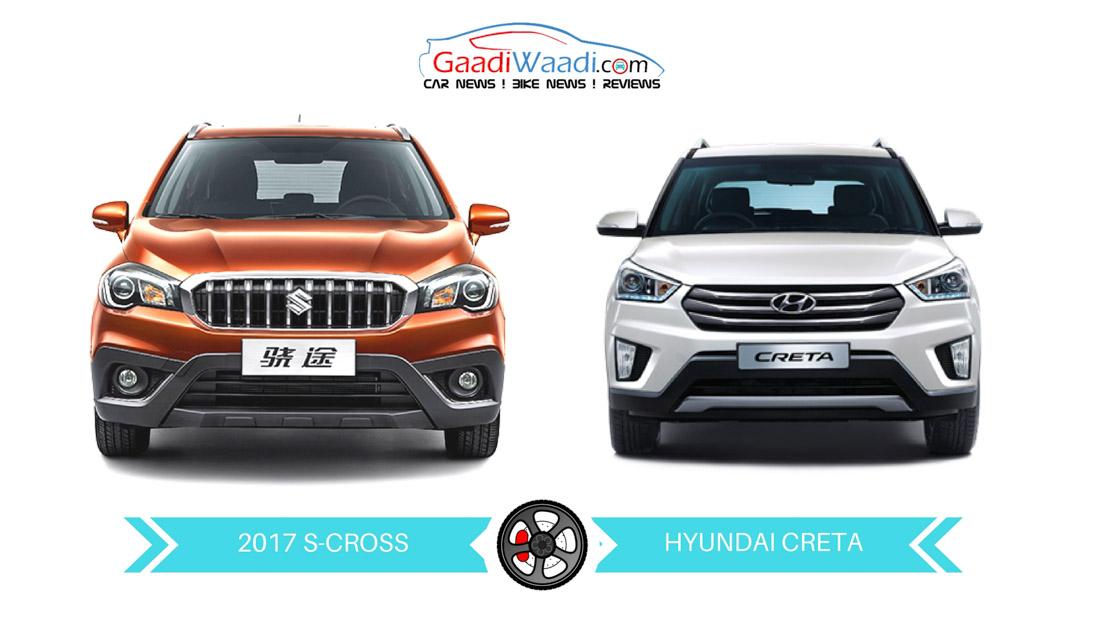 2017 Maruti Suzuki S Cross 1 3l Vs Hyundai Creta 1 4l Comparison