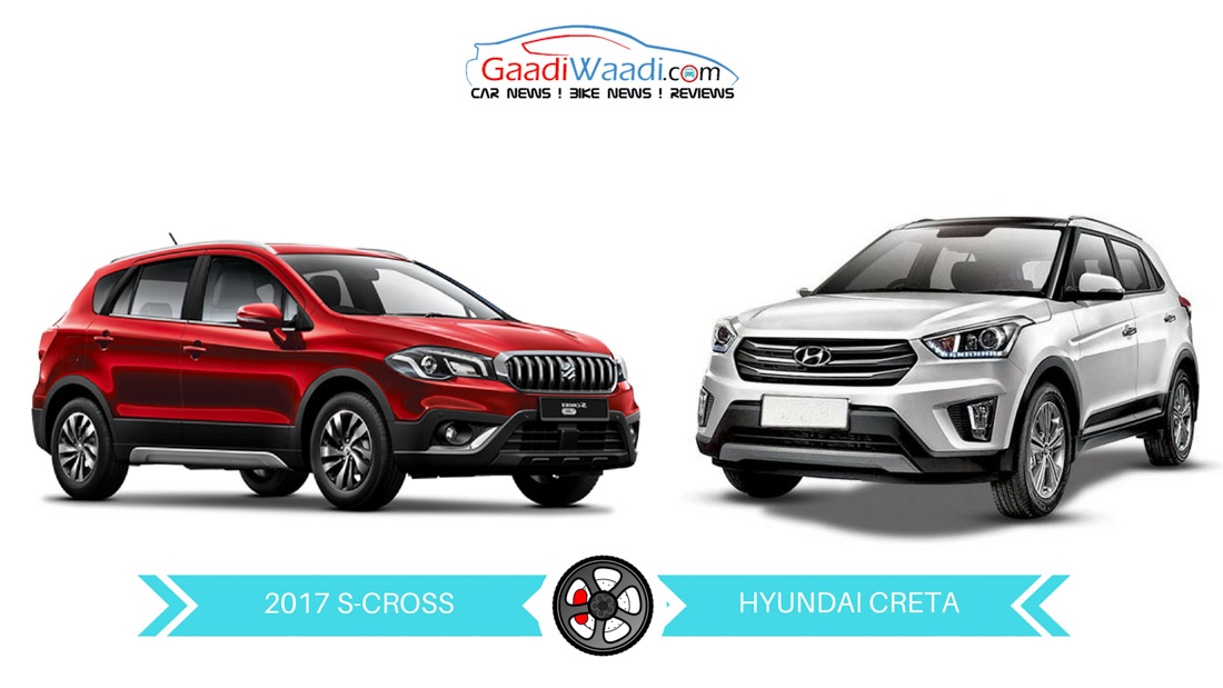 2017 maruti suzuki s cross 1 3l vs hyundai creta 1 4l comparison. Black Bedroom Furniture Sets. Home Design Ideas