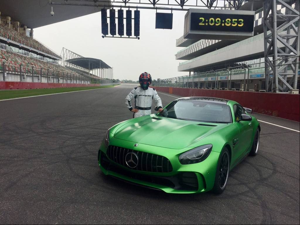 AMG Driver, Christian Hohenadel with the record breaking AMG GT R