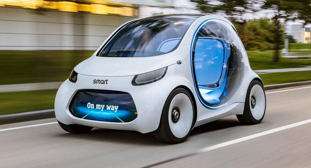 smart vision eq fortwo concept is a futuristic autonomous. Black Bedroom Furniture Sets. Home Design Ideas