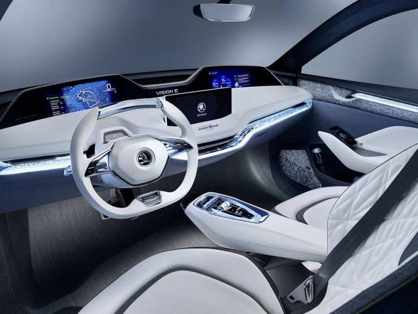 Updated Skoda Vision E Concept Interior Frankfurt Motor Show 2017