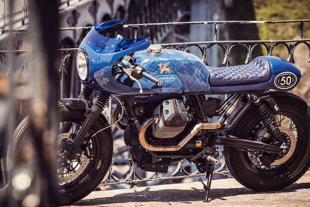 Vanguard Honours Moto Guzzi V7 With Attractive Customisation