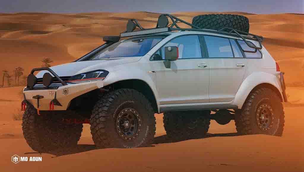 Volkswagen Golf Alltrack Becomes Sand Dune Smasher In This