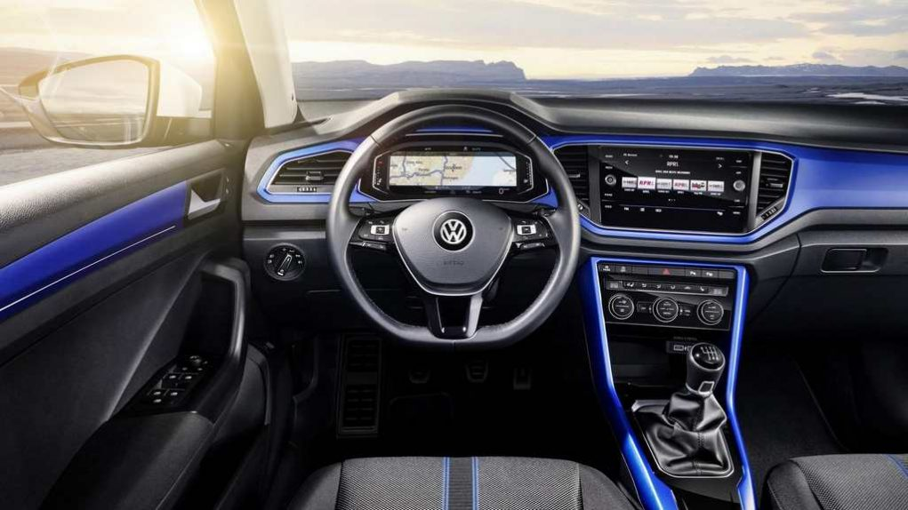 Volkswagen T-Roc Compact SUV Launched Interior Blue
