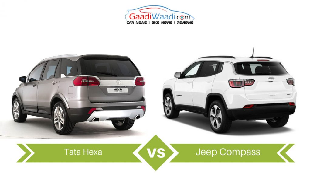 jeep compass vs tata hexa comparison