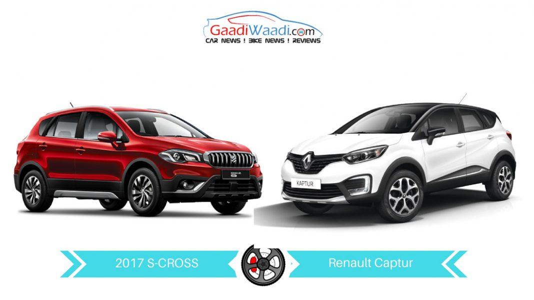 2017 maruti s-cross vs Renault captur