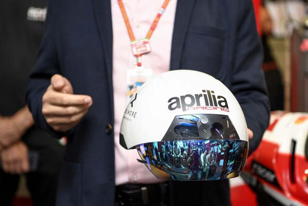 718072ce90b3 Aprilia Racing Introduces MotoGP Augmented Reality Helmet