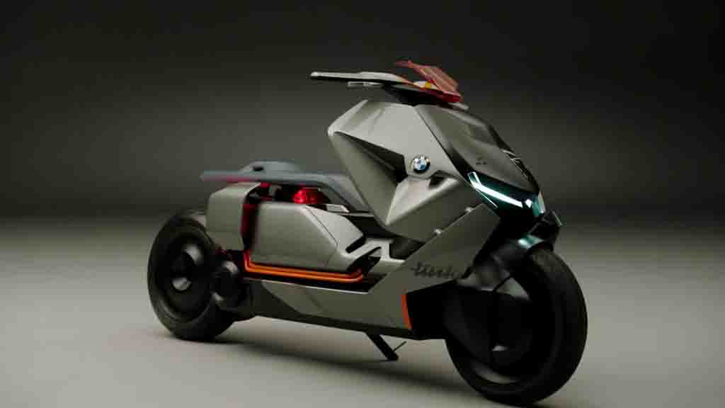 Tech Brimmed Bmw Concept Link Scooter Showcased In Frankfurt