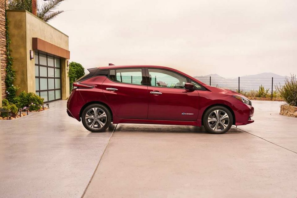 India-Bound Nissan Leaf Revealed Side