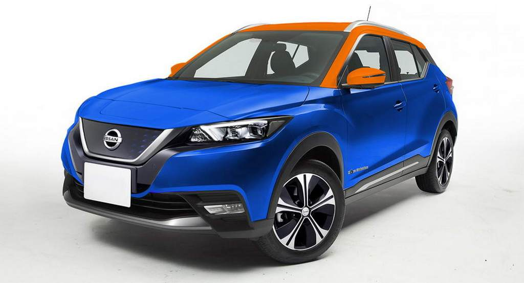Nissan Electric SUV Rendered With Styling From Leaf And Kicks