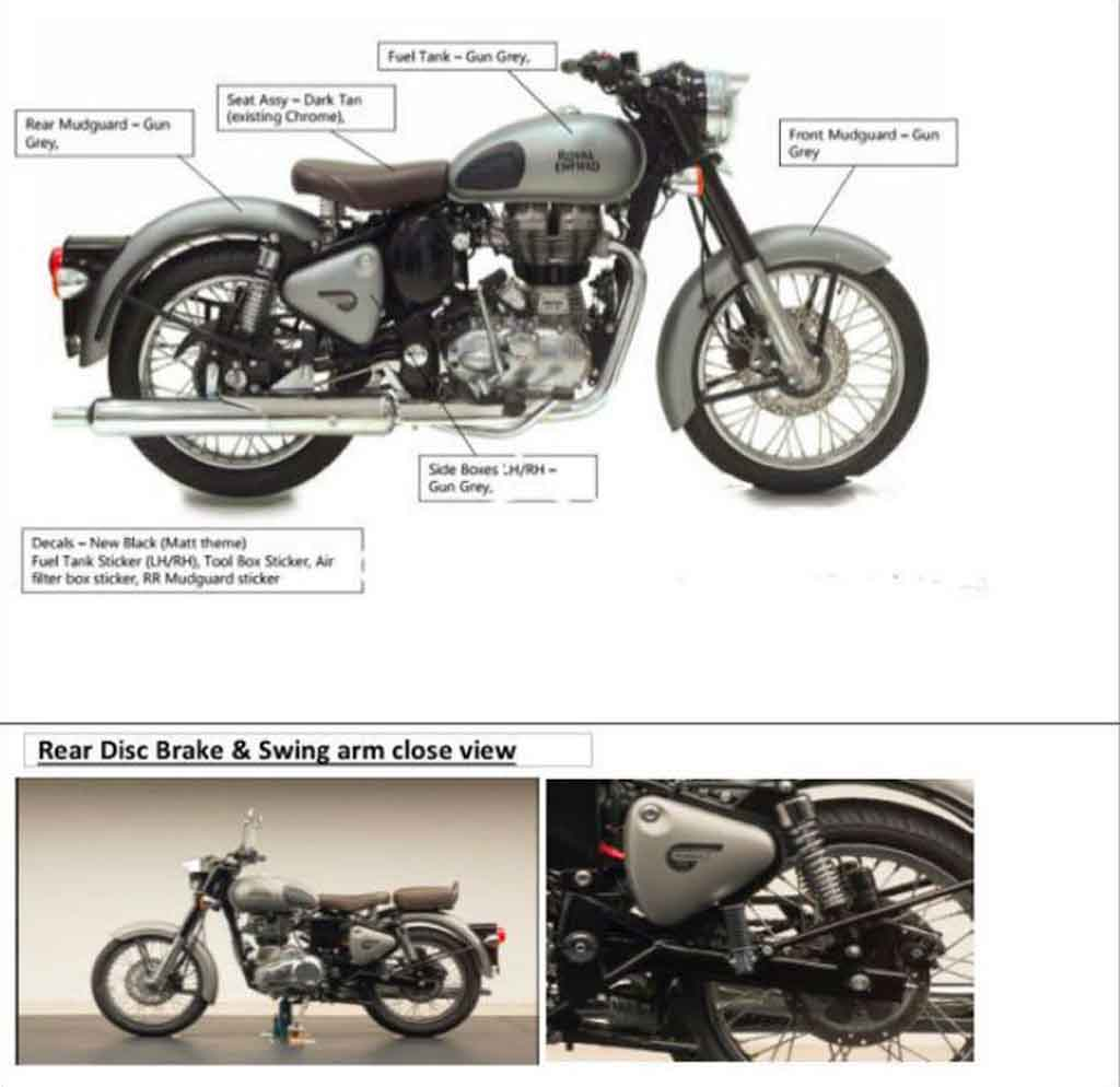 royal enfield classic 350 new colours and features