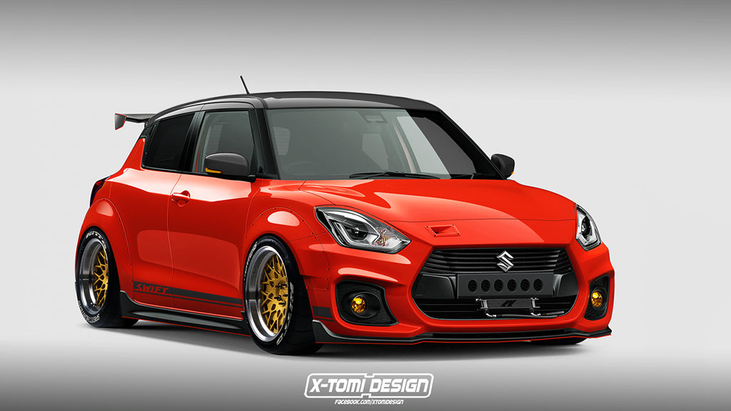 wild track ready suzuki swift sport imagined and it looks bmw 8 series stance suzuki swift black stance #11