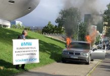 BMW Owner Burns His 7-Series Outside Brand's HQ