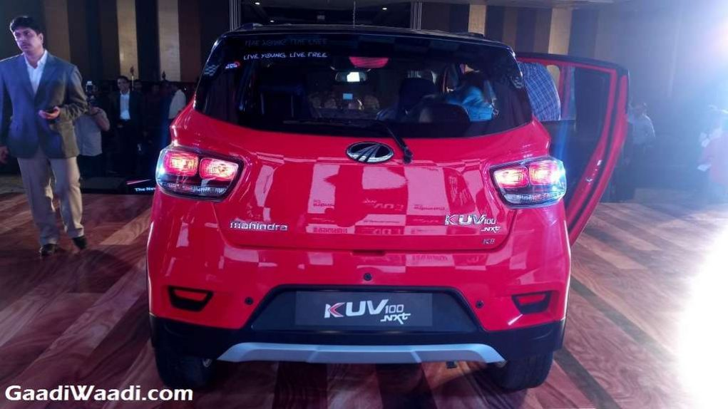 2017 Mahindra KUV100 Facelift (NXT) Launched In India - Price, Engine, Specs, Features, Interior, Rear End