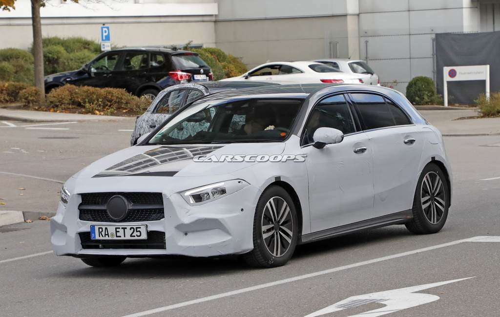 India-Bound 2018 Mercedes Benz A-Class Spied Undisguised Completely 3