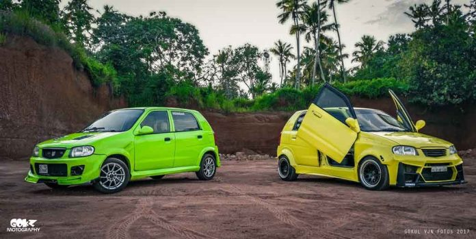 twin modified maruti alto 800s don hot hatch guise. Black Bedroom Furniture Sets. Home Design Ideas