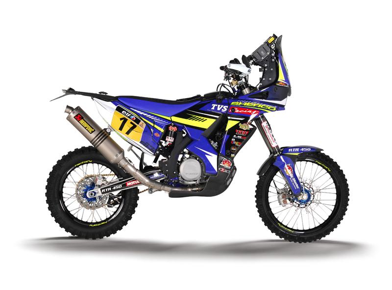 sherco tvs rtr 450 rally bike